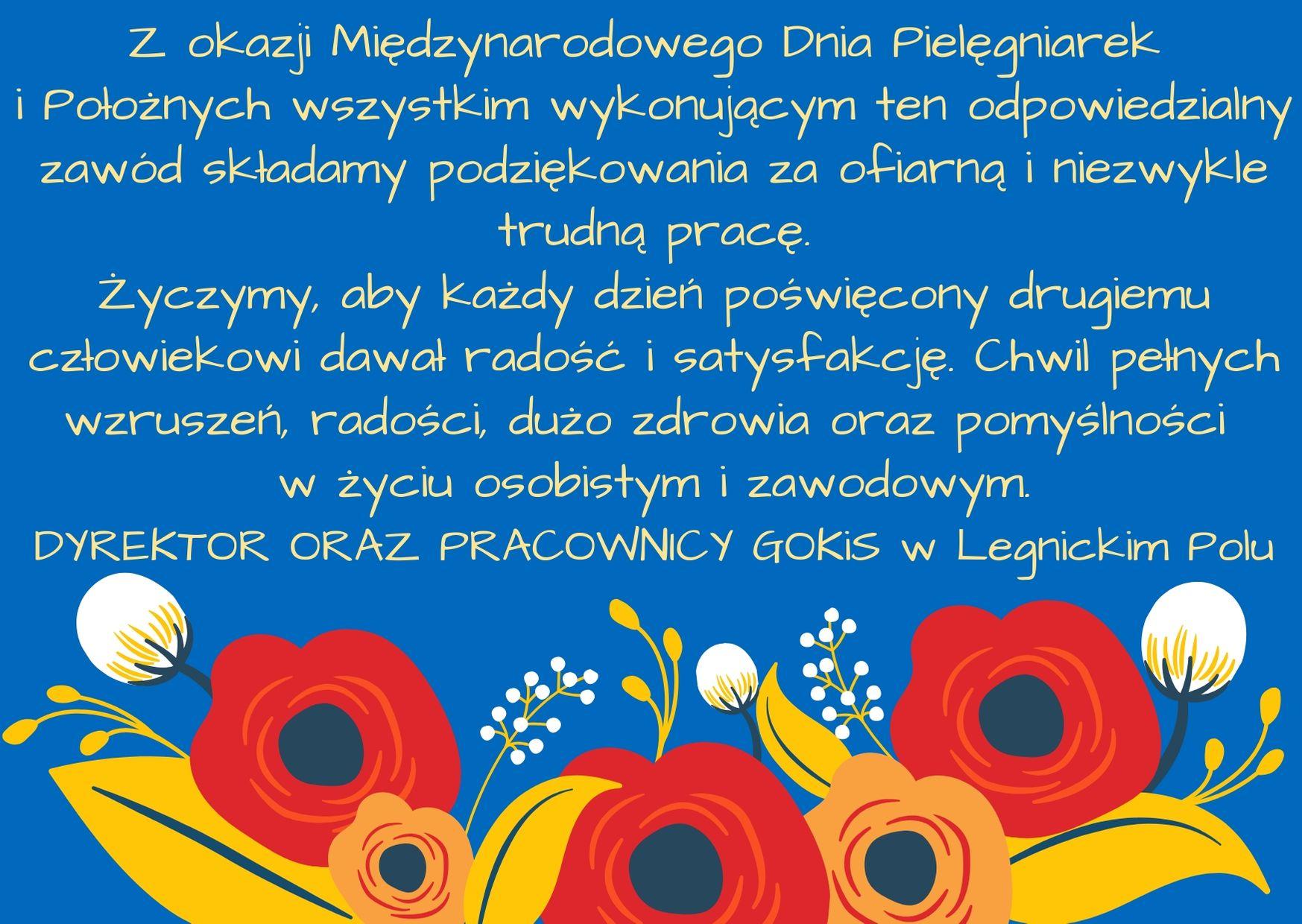 Najlepsze życzenia z okazji Międzynarodowego Dnia Pielęgniarek i Położnych